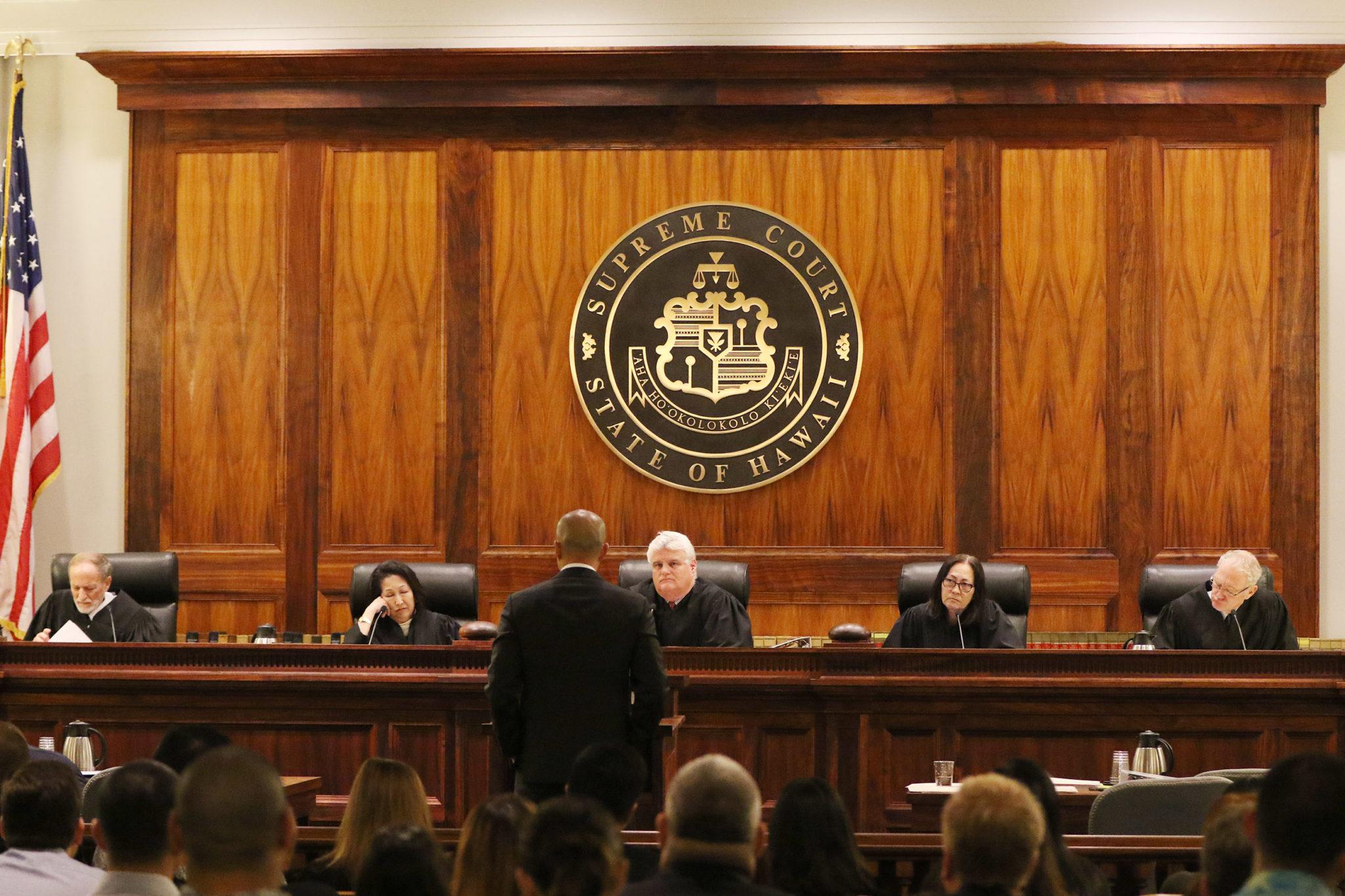 Deedy Trial Hawaii Supreme Court Otake addresses justices. 2 feb 2016