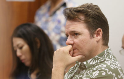 Hawaii Democratic Party Chair Tim Vandeveer in SB1129 at the Capitol. Tim testfiied. 15 feb 2017