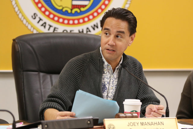 Honolulu City Council Member Joey Manahan. 8 feb 2017