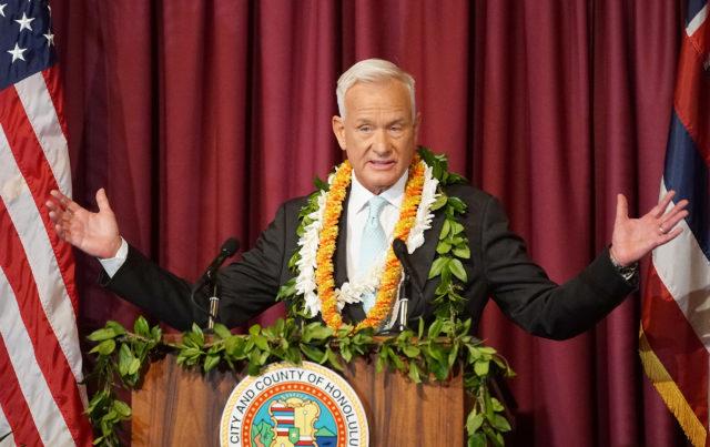 Mayor Kirk Caldwell Honolulu Hale. 16 feb 2017