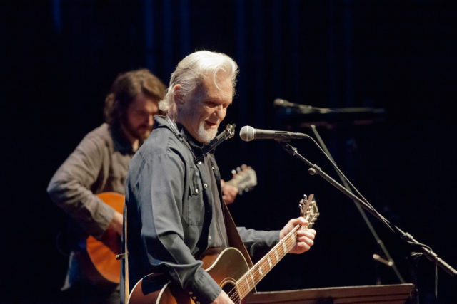 Musician, Actor & Rhodes Scholar Kris Kristofferson performs with Micah Nelson on February 24th, 2017 at the Maui Arts & Cultural Center