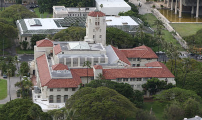 Honolulu Hale top view. 1 may 2017