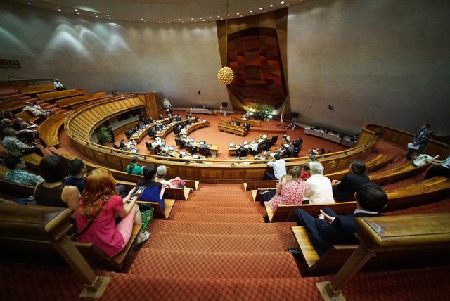Wide photo of gallery and House of Representatives at the Capitol. 2 may 2017
