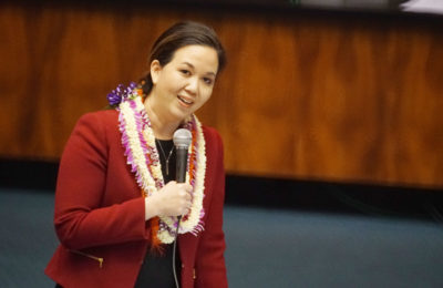 Sen Jill Tokuda speech before session adjourned. 4 may 2017