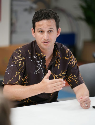 Senator Brian Schatz in HCB office. 31 may 2017