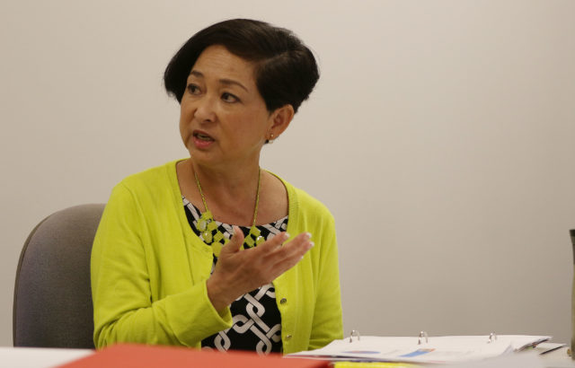 Ethics Commission counsel Jan Yamane during city ethics meeting.