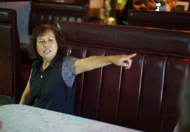 Oknam Burchette, owner of Club Ruby, a bar on the makai side of Farrington Highway shares that her business is failing after construction as her customers stopped coming.