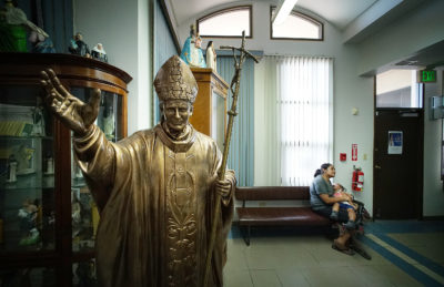 Statue in the Santa Barbara Catholic Church office in Dededo, Guam.