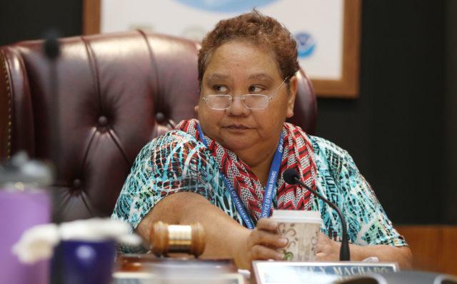 Office of Hawaiian Affairs OHA Chair Colette Machado meeting.