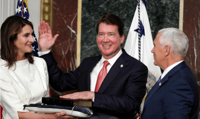 William Hagerty takes the oath of office as ambassador to Japan, June 27, 2015