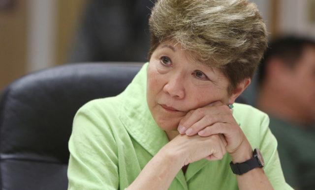 Honolulu City Council member Carol Fukunaga in committee meeting.