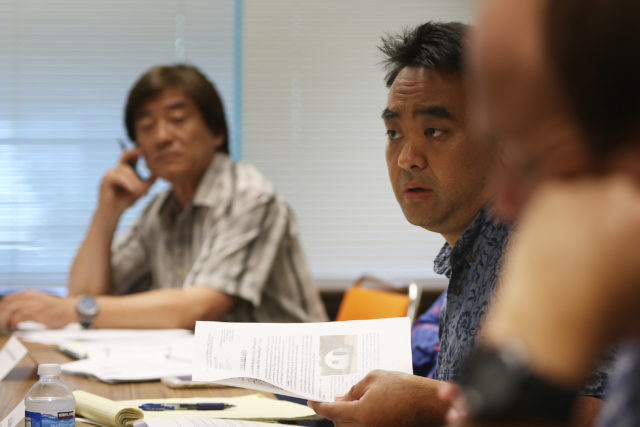 Chair Hawaii Interangency Council on Homelessness Chair Scott Morishige at 1390 Miller street.