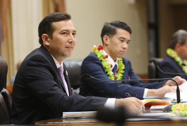 Honolulu City Council member Trevor Ozawa during full council meeting.