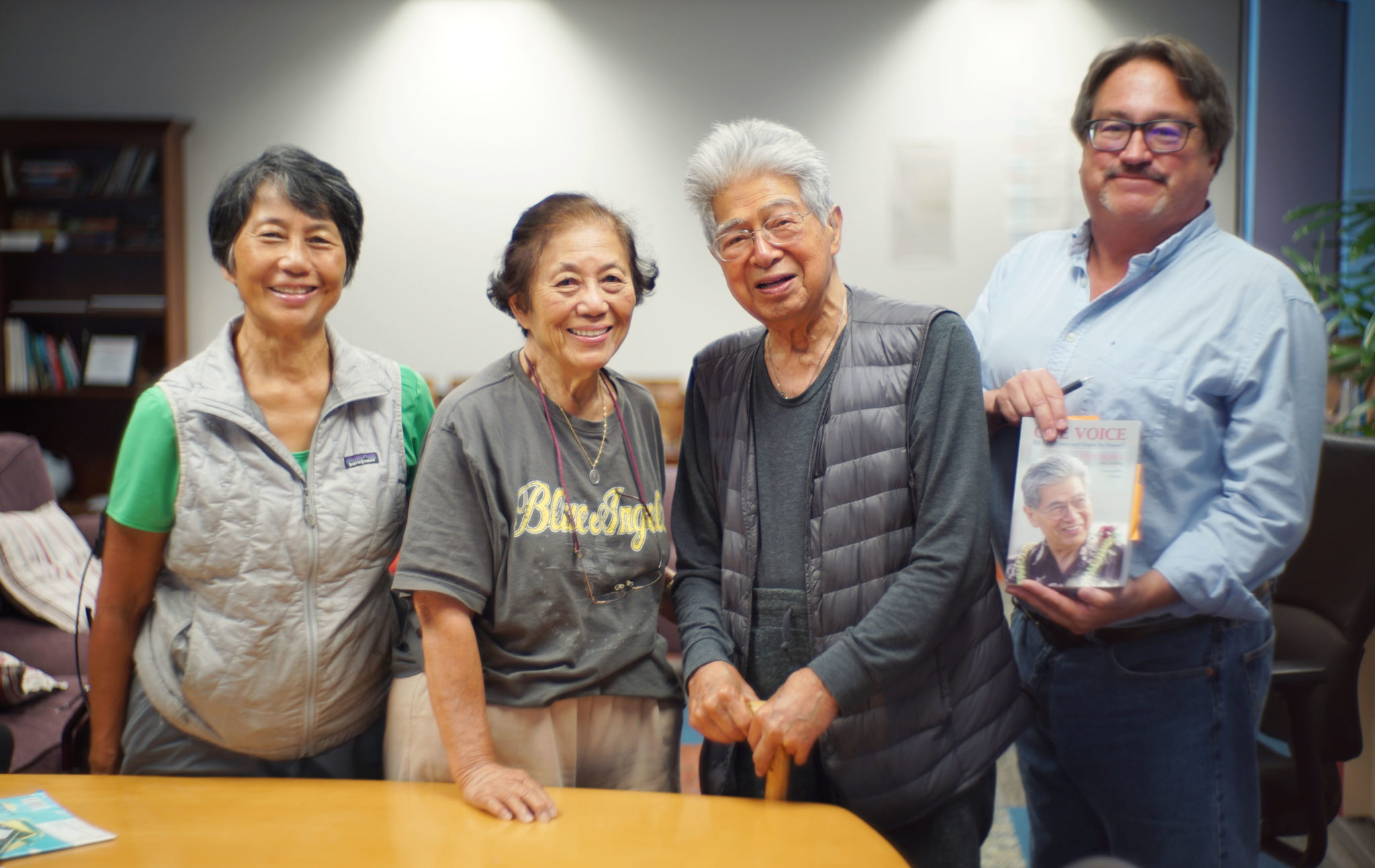 Left, Sen Akaka daughter Millannie Akaka Mattson, wife Millie Akaka, Sen Daniel Akaka and right, Chad Blair.