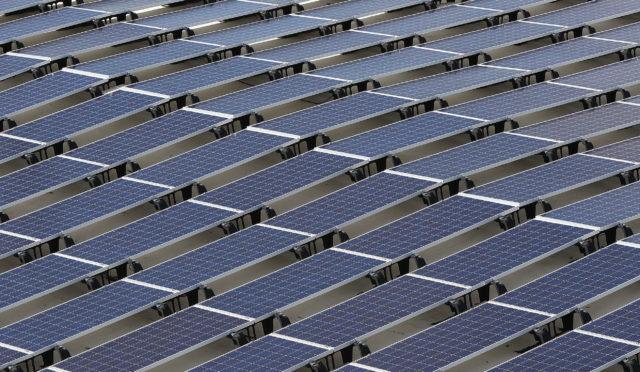 Photovoltaic PV solar at Daniel Inouye Airport.