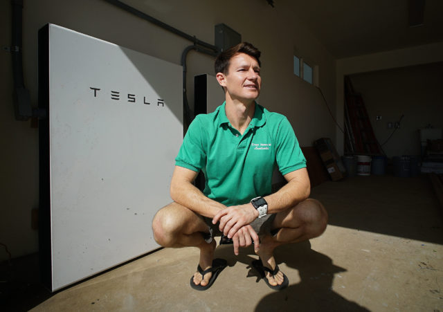 R.J. Martin Tesla Powerwall 84 808 Hanalei off grid home in Waianae.
