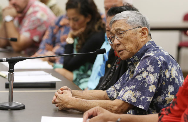 Big Island Mayor Harry Kim ways means meeting in room 325 Capitol.
