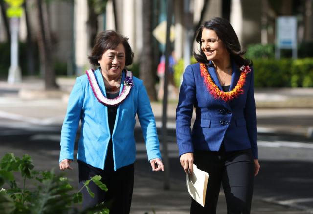 Congresswoman Tulsi Gabbard endorses Hanabusa for Governor press.