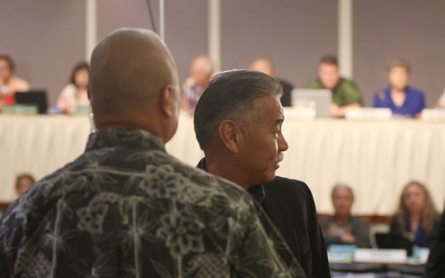 Governor Ige leaves Legislator meeting on missile Blunder early and leaves Miyagi, Logan and Gen. Hara there to handle the questioning.