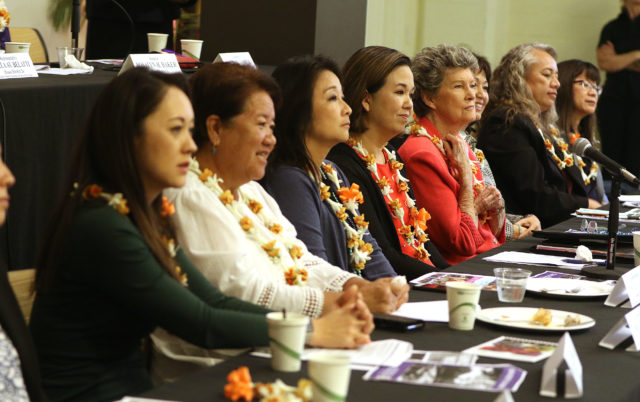 Hawaii State Women's Legislative Caucus Unveils Package for 2018 Legislative Session during breakfast held at YWCA.