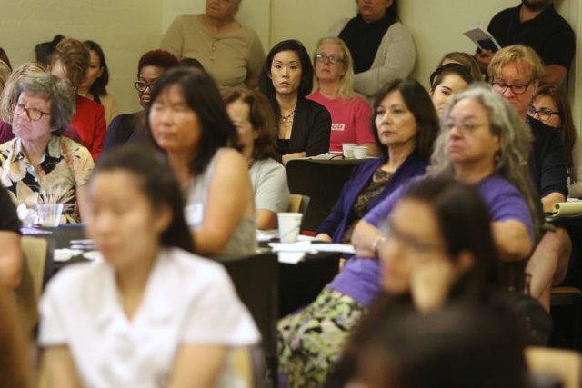 Hawaii State Womens Legislative Caucus breakfast held at the YWCA.