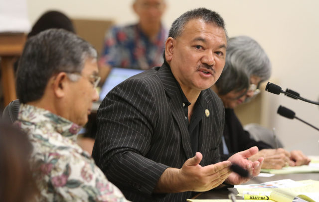 Rep John Mizuno, Chair Health and Human Services Committee during a Briefing on Homeless solutions held at the Capitol. 10 jan 2018.