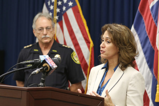 Hawaii Education Superintendent Christina Kishimoto spoke with Assistant Chief John McCarthy about recent student threats in schools.