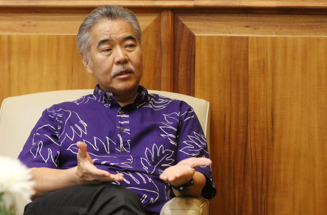 Gov David Ige interviewed about the recent talk with Waianae Boat Harbor's Twinkle Borge.