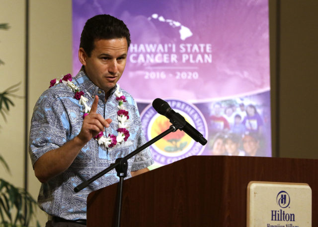 Senator Brian Schatz Hawaii State Cancer Plan speech honoring Sen Hirono.