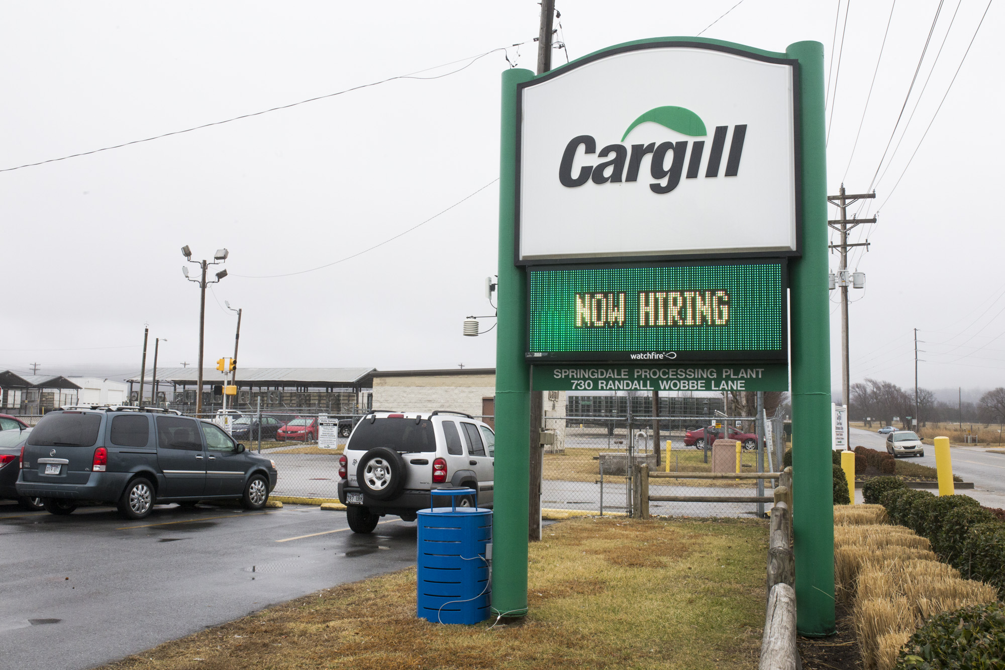 Cargill plant in Springdale, February 14, 2018.