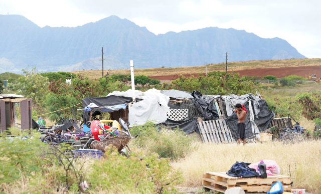 Lualualei Road structures. Possible homeless/ houseless folks in Waianae. For Bianca.