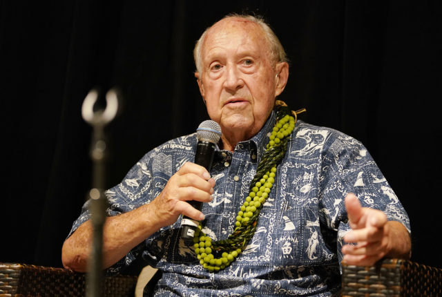 Hawaii Conservation Conference Gubernatorial Conference John Carroll speaks at the Hawaii Convention Center.