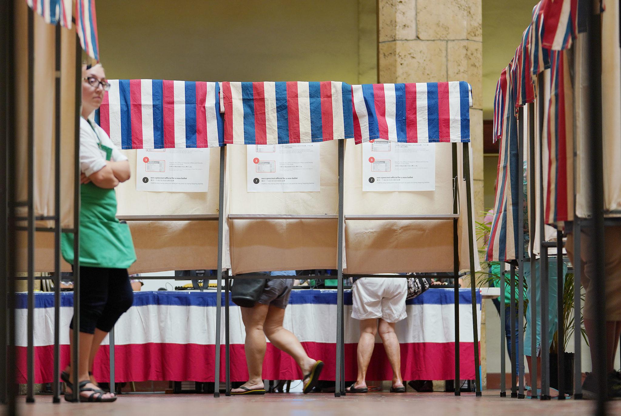 Early Voting 2018 Honolulu Hale. 4 aug 2018